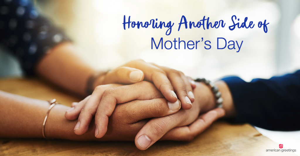 Bereaved Mother's Day - May 8th - clasped hands offering support