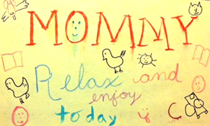 A keepsake for mom - a handmade card from her child
