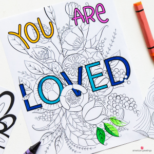 You Are Loved Coloring Book Page