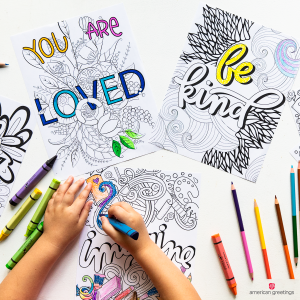 Connecting with your middle schooler coloring book pages