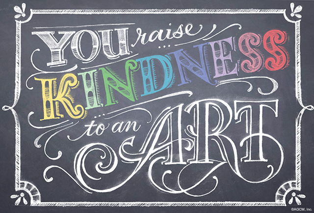 Kindness quote done on a chalkboard