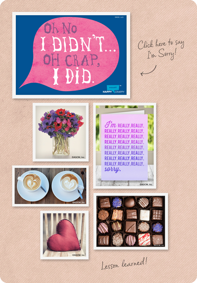 Forgiveness Day Mood Board - cards and ecards for Forgiveness Day - flowers, coffee, candy and hearts