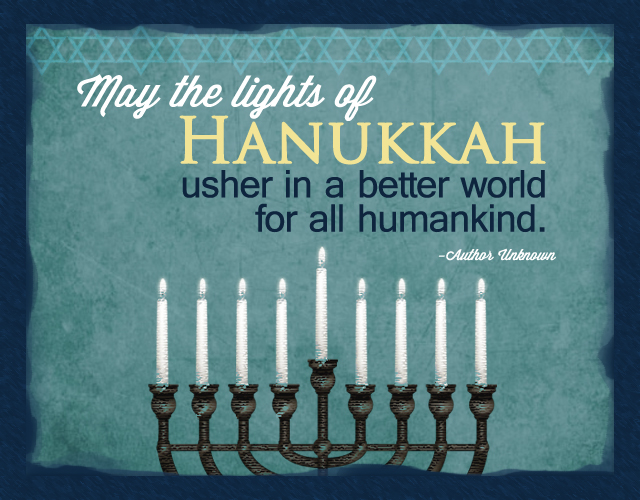The Lights of Hanukkah...